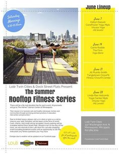 $5 rooftop fitness classes (and all proceeds go to charity!)