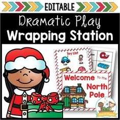 Santa's workshop dramatic play center for a Christmas theme. Your kids will love wrapping gifts in this fun dramatic play center! Preschool Christmas, Christmas Activities, Christmas Themes, Christmas Holiday, Xmas, Montessori, Pre K Pages, Dramatic Play Centers, Sequencing Activities