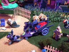 Nightmare Night-themed Friendship is Magic Collection. Luna with her chariot and bat pony.