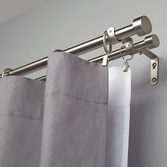 Buy Umbra Adjustable Double Curtain Pole Kit, Nickel, L91-183cm x Dia.31cm Online at johnlewis.com