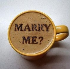 A proposal with your coffee #wedding #engaged #proposal
