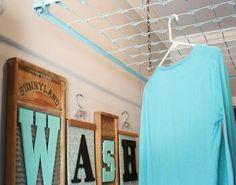 4. Crib Spring Drying Rack - Laundry Room Storage - Brit + Co