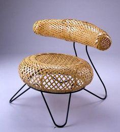 Isamu Noguchi Bamboo Chair, Mingei Exhibition, Paris