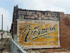 Bright, brick Vernors sign exposed after razing Detroit Art, Detroit History, Detroit Houses, State Of Michigan, Detroit Michigan, Type 1, Detroit Free Press, Old Advertisements, Advertising