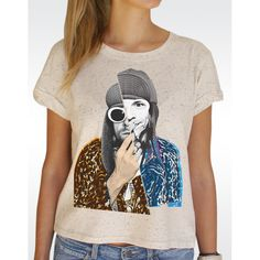 W89 KURT COBAIN T-shirt Women's Speckled Rolled Up Sleeve T-shirt Available in 2 colours