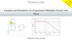 """In this tutorial video we will present how to create and simulate a """"Capacitance multiplier"""" circuit using TINA. A """"capacitance multiplier"""" circuit can increase the effective value of a small capacitor C1 to a much larger value.   www.tina.com"""