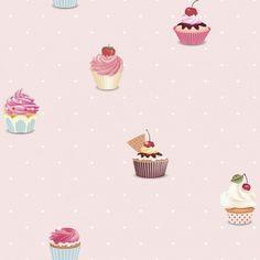 Cupcake Baby Pink by Galerie : Wallpaper Direct Embossed Wallpaper, Diy Wallpaper, Designer Wallpaper, Pattern Wallpaper, Diy Tapete, Galerie Wallpaper, Wall Jack, Pink Cupcakes, Brokat