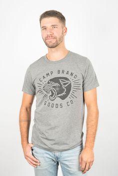 WILDCAT T-SHIRT // TRI GREY – Camp Brand Goods