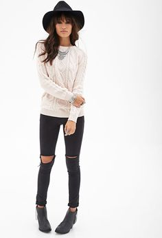 Cable Knit Sweater [ CaptainMarketing.com ] #fashion #online #marketing