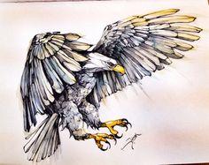 Eagle by Gülşah Alçın, via Behance