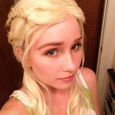 jellyfish soup: Daenerys Targaryan Make-up Test