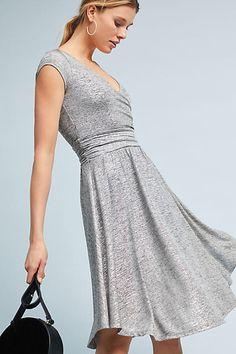 Silver Grey Everyday Wrap Dress #anthropologie #ad