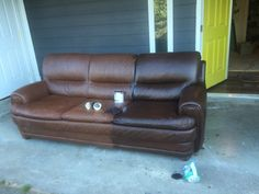 Staining a Leather Couch