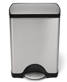 Simplehuman Trash Can, 30L Rectangular - Kitchen Gadgets - Kitchen - Macy's