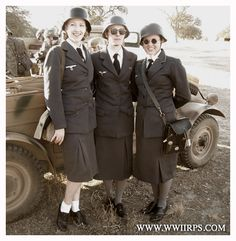 LW Helferin re-enactors from California Woman Costumes, Costumes For Women, Military Women, Ww2, World War, Winter Jackets, California, Lady, Clothes