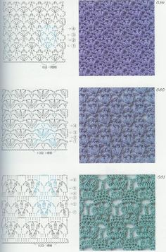 Crochet Patterns Book 300 - 新 - Веб-альбомы Picasa Crochet Stitches Chart, Crochet Motifs, Afghan Crochet Patterns, Knitting Stitches, Stitch Patterns, Knit Crochet, Granny Square Häkelanleitung, Granny Square Crochet Pattern, Crochet Diagram