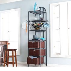 Shelving - Genevieve Kitchen Storage Tower by Southern Enterprises | KitchenSource.com