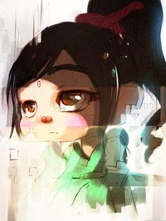 Tags: Anime, Disney, Artist Request, Wreck-it Ralph, Vanellope von Schweetz, Glitch