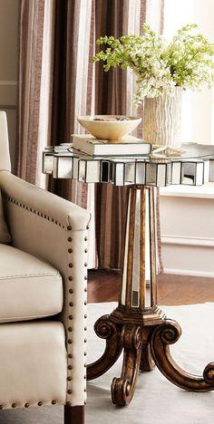 "Ambella ""Coronado"" Fluted Side Table #home #decor"