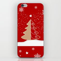Skins are thin, easy-to-remove, vinyl decals for customizing your device. Skins are made from a patented material that eliminates air bubbles and wrinkles for easy application. Christmas Tea, Christmas Design, Iphone Skins, Happy Holidays, Vinyl Decals, Sticks, Snowflakes, Gingerbread, Red And White