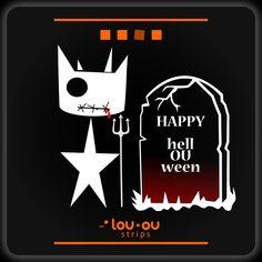 Ou! Happy #halloween! #cat #comic #strip #fear #terror #manga #anime #love #scary #rip #fun #trickortreat #blood #satan #dead #pumpkin #devil  https://meetlouou.wordpress.com/