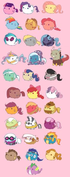 My Little Ponies as Pusheen the Cat. Or is Pusheen as the ponies? Dessin My Little Pony, Mlp My Little Pony, My Little Pony Friendship, My Little Pony Drawing, Gato Pusheen, Little Poni, M Anime, Imagenes My Little Pony, Fluttershy