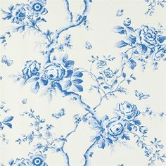 Ashfield Floral – Delft wallpaper from Designers Guild