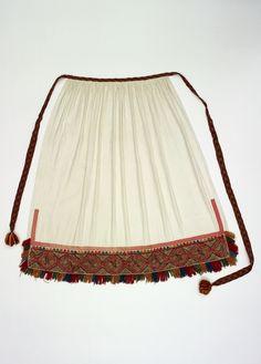 Apron, part of the Finnish Karelian national dress Tuuteri. FolkCostume&Embroidery: Rekko costumes of the Karelian Isthmus and Ingria Folk Costume, Costumes, Folk Clothing, Esl, Traditional, Embroidery, Finland, Clothes, Folklore
