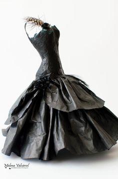 Vestido Miniatura de Papel