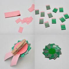 これなら片面ふせんだから、 マステ半分の量だし、失敗しても剥がせます。 小さくしたいときは、使う分のふせんを、 はじめにまとめて短く切っちゃえばいい。 裏には別の紙貼って、強力両面で木製ピンチ貼ると、 ラッピングの袋やリボンにちょいとつけるのに便利!