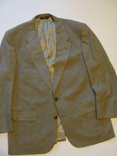 Authentic Men s Size 38 M Vintage BURBERRY PRORSUM Burberrys  Beige Suit Coat/Ja