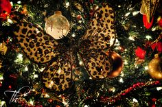 Leopard Butterfly Ornament on my tree ~ Thanks, Taylor Michele!!  <3 <3 <3