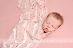 Ruffle Stretch Knit Wrap in Pink and Cream | Beautiful Photo Props