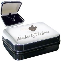 Mother of the Groom Heart Necklace with Box