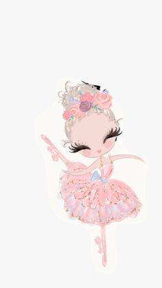 Best painting oil ideas backgrounds Ideas in 2019 Cute Wallpapers, Wallpaper Backgrounds, Iphone Wallpaper, Blog Backgrounds, Ballerina Art, Cute Illustration, Cute Drawings, Diy Art, Cute Art