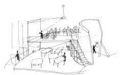 Abedian School of Architecture,Sketch by Gavin Robotham