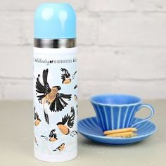 'Collective Noun' Bullfinch Thermos Flask