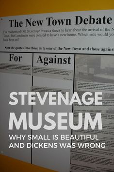 #Stevenage #Museum is an excellent example of a small local museum going out of its way to engage its visitors.