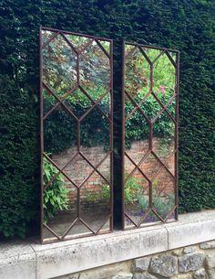 Beautiful pair of restored window mirrors ..