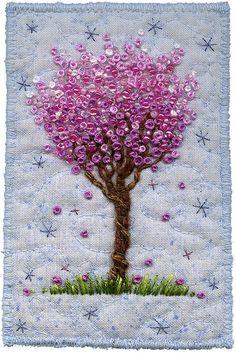 Blossom Tree on Blue, 2 by Kirsten Chursinoff, via Flickr
