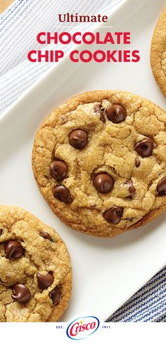 You're going to go nuts for our Ultimate Chocolate Chip Cookies recipe with chopped pecans. In just 35 minutes, you can prepare and bake three dozen delicious treats for dessert. Your taste buds will (Chocolate Chip Pecan) Chicolate Chip Cookies, Ultimate Chocolate Chip Cookies Recipe, Crisco Cookies, Chocolate Cookie Recipes, Homemade Chocolate, Chocolate Peanut Butter, Baking Cookies, Cookies Soft, Butter