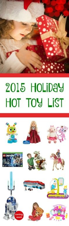 Check out the 2015 Hot Holiday Toy List along with a review of each toy to get an idea of how each toy works and to help you decide which Christmas gift to get your kids this year.
