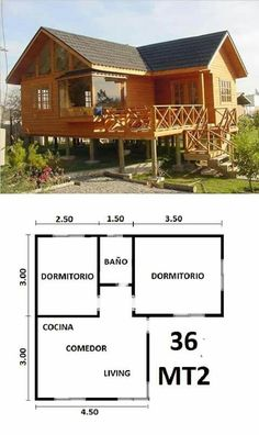 A House Ideas Kitchen Dining Tables Referral: 2100534255 Tiny House Cabin, Small House Plans, House Floor Plans, Bamboo House, Cottage Plan, Bedroom House Plans, Cabins And Cottages, Small House Design, House Layouts
