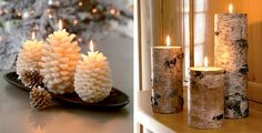 organic christmas decorations | 25 Cool Christmas Candles Decoration Ideas | DigsDigs