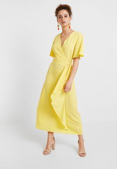 3df8dc74 YELLOW BUCKLE WRAP - Maxikjole - sunshine yellow @ Zalando.no 🛒