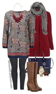 """""""Plus Size - Tunic & Boots"""" by alexawebb ❤ liked on Polyvore featuring Acne Studios, Joe Browns, Henri Bendel, H&M, Butter London, Michael Kors, outfit, plus, plussize and size"""