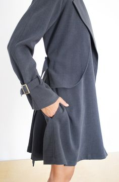 The Supply Room: Society for Rational Dress blue smoke trench coat : SALE
