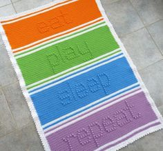 Eat Play Sleep Repeat Baby Blanket