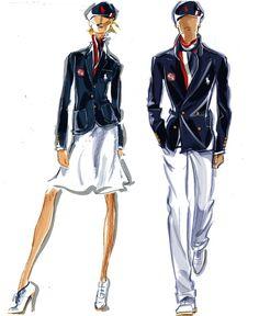 Team USA Opeing Ceremony Uniform Uniforms Polo Ralph Lauren Sketches