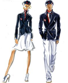 Team USA Opeing Ceremony Uniform Uniforms Polo Ralph Lauren Sketches